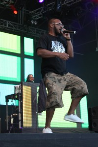 Ty on stage at Splore