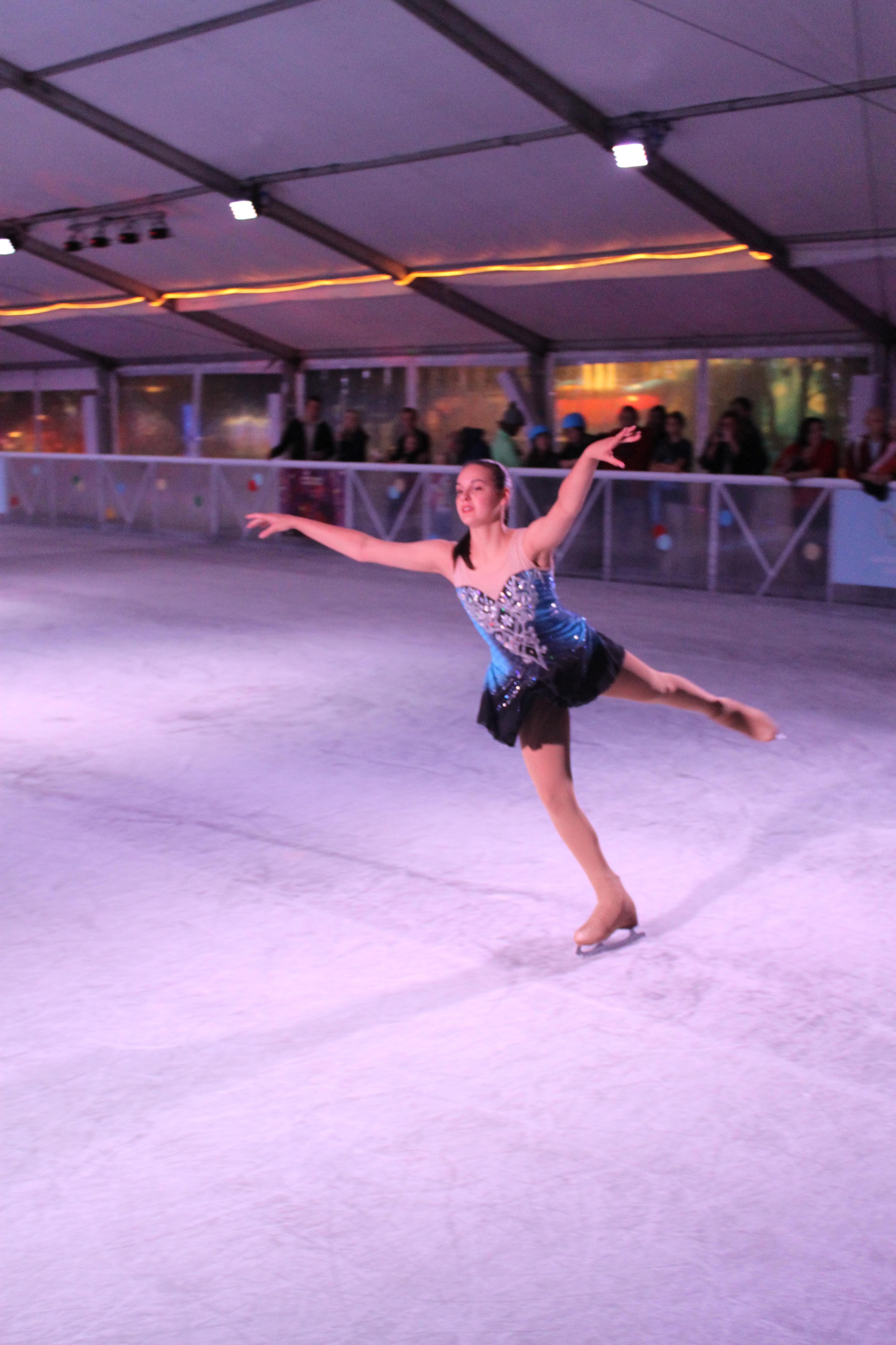 woman skating
