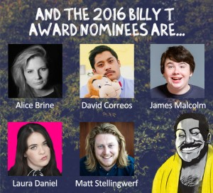 Billy t nominees 2016