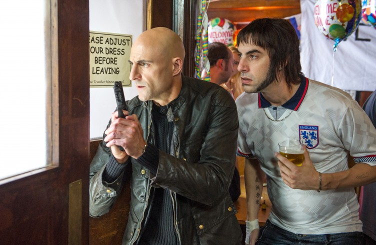 Sacha Baron Cohen and Mark Strong in Grimsby