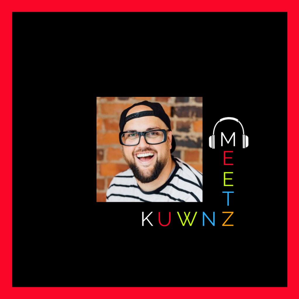 KUWNZ Meets Podcast logo - luke bird